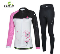 Wholesale Mountain Bike Cycling Jersey Dandelion Long sleeved Cycling Jerseys Suit Female New Hot Cycling Jerseys Road Bike Riding Clothes and Equipme