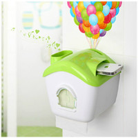 Wholesale Dual Use Waterproof Paper Roll Holder Practical iPhone Holder Balloon Sticker GIFT Creative Flying Pixar Tissue Box With Sucker Color Mix