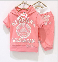 Wholesale girls boys summer clothing NEW sets sports suit for girls child summer sports sets