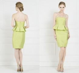 Wholesale Modest Short Corset Homecoming Dresses Modest Zipper Back Prom Gowns Spaghetti Strap Cocktail Dresses vestido de festa curto Ady01