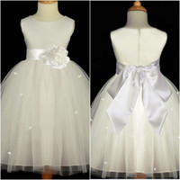 Cheap 2014 hot for wedding kids princess dress new arrival with bow for child Flower Girl's Dress