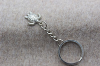 Wholesale Vintage Silver Turtle Charm Key ring key ring unique gift the best gift for friends