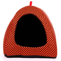 Wholesale Soft Warm Fantastic and Colorful Mongolian Yurt Dog Pet House with Cotton Cushion for Pet Dog Sleeping GL046