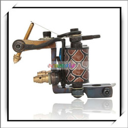 Wholesale New B10006 Warps Coils Wire Cutting Tattoo Machines Shader Gun Carbon Steel Black Good and High Quality H01019
