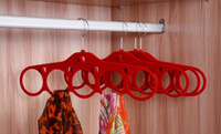 velvet hanger - Popular Velvet Hole antiskid hangers scarves clothes rack