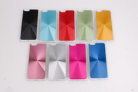 Wholesale for iphone6 Bling CD Grain Vinyl Chrome Plastic Hard Back Case ScratchProof Cover for quot Apple iPhone G