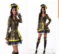 Cheap Hot Sale Pirates of the Caribbean Costume Adult Sexy Costumes for Holloween 5pcs lot free shipping