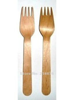 Wholesale 5 Disposable Wooden Forks cm Flatware cutlery Eco Friendly birch wood dessert