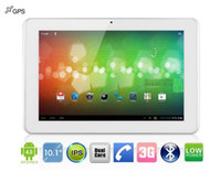 Wholesale 10inch Sanei N10 G IPS tablet pc Qualcomm Cortex A5 Dual Core GHz Android Phone Call WCDMA