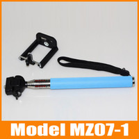 Wholesale Z07 Extendable Adjustable cm Gopro Monopod Tripod with phone Holder for Digital Camera for iPhone for Samsung for Cell Phone
