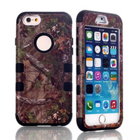 Wholesale 6 Colors Realtree Camo Defender Cases For iPhone iphone6 Hybrid PC Shell Silicone Skin in Shock Proof Mobile Phone Case Cover