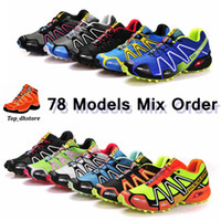 Wholesale Training Running Shoes Salomon Store SpeedCross CS Zapatillas Outdoor Sports Shoes styles mix orders Hiking Shoes Worldwide Shiipping