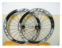 aluminum effects - Chinese carbon wheels SIZE mm white color C COOL D effect carbon road bike wheels wheelset aluminum carbon wheel tubular
