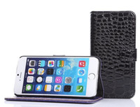 Cheap Crocodile Snake PU Leather Wallet Pouch case credit card For iphone 6 6TH 4.7 inch stand holster Plastic Cover skin