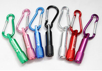 LED Key Chain mini key chain - LED Mini Flashlight Aluminum Alloy Torch with Carabiner Ring Keyrings Key Chain mini LED Flashlight Mini light LED Fashlights