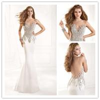 2015 Tarik Ediz Hot Sell Evening Dresses Sexy Sheer Lace Ill...