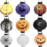 Cheap Halloween lanterns Best pumpkin paper lantern