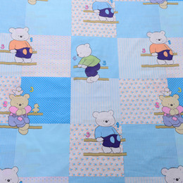 Wholesale BL013 Cotton Print Fabric Bear Width1 M Cartoon DIY