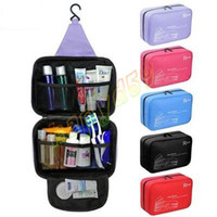 Wholesale NEW waterproof woman man Travel Mate Multifunction hanging cosmetic bags makeup toiletry purse holder wash bag organizer cosmetic pouch
