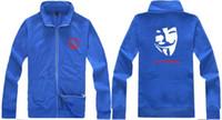 Wholesale 2014 new Men s Zipper cardigan Sport Hoodies Fashion Coats Jacket V for Vendetta Sportswear Women sweatshirt