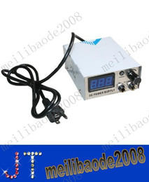 Wholesale NEW Stainless Steel Digital LCD Tattoo Power Supply With Tattoo Foot Pedal Clip Cord MYY2771A