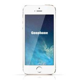 Wholesale Quad Core MTK6582 Goophone i5 i5s MB GB Goophone inch QHD Screen Wifi Wcdma nano single sime card Gold Black White Unlock