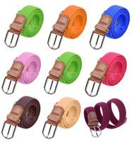 Wholesale Promotion Brand Belts Elastic Waistband Elastic Woven Canvas Belt Men Women Wild Casual Belt Buckle Korean Wave Top quality CA01014
