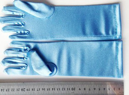Wholesale Full finger gloves frozen snow Queen Elsa kids Long Blue gloves Cartoon Party children gloves