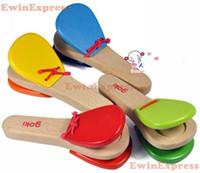 Gastos de envío 10X NUEVO bebé de juguete musical instrumentos de la banda castañuelas Juguetes para Niños Percusión Ritmo Marching gratuito