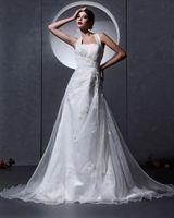Cheap A line Wedding Gown Best Pleats Wedding Dresses