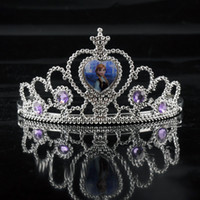 as photo Plastic Tiaras Frozen Anna Elsa Tiara Crown Hair Band Sparking Crystal Cubic Zirconia Paved For Children Girl Mix Models(1704001)