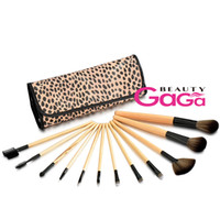 Wholesale BeautyGaGa professional Supply Makeup Brushes Set Wooden Handle Synthetic Hair Cosmetic brushes kit