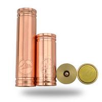 Cheap Vanilla copper mod Mechanical Copper Vanilla Battery mod penny Tube ecig vaporizer pen ecig VS stingray 26650 panzer DHL free shipping