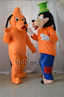 Wholesale 2 Goofy Dog Pluto Big Mascot Costumes fancy Suit Cartoon Characters