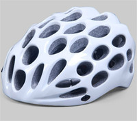 bike racing bicycle - High Quality Mountain Road Race Cycling mtb Road Race Bike whisper Holes Helmet White Bicycle helmet sport helmet Free