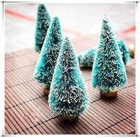 Wholesale 10pcs Chrismas Decoration for Table in Office or at Home Cute Christmas Items Desktop Trees Different Size for Your Choice