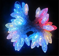 Wholesale Newest LED Waterproof Strings Lights M V Colorful Pine Cones Shape Decoration Lights For Christmas Party