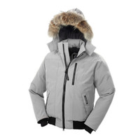 Hooded bomber hat - Canada Goos Men Borden Bomber Removable hooded duck down jackets with Fur winter outerwear coat parkas top quality
