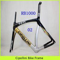 Wholesale Cipollini T1000 Full Carbon Fiber Frameset RB K Wave Black Golden Cycling Frames Mcipollini Road Racing Match Bicycle Frame Set Fit BB