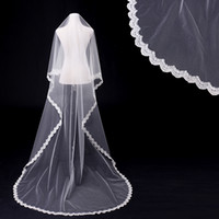 Wholesale in stock Wedding Veil one Layers Tulle lace around and Blink Sequins m Luxury White Bridal veil Wedding Accessories