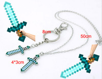 Minecraft Sword Key Chains Necklace Sword Pendants Necklace