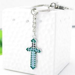 Wholesale hot new Minecraft Sword Key Chains Necklace Sword Pendants Necklace