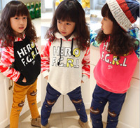 Warm Fleece Flannel Woolen Girls Hooded Hoodied Long Sleeve ...