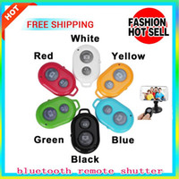 Wholesale 5PCS Universal Wireless Camera Controller Bluetooth remote Self timer shutter Cellphones Tablet For Samsung Galaxy S4 S5 Note Smartphones