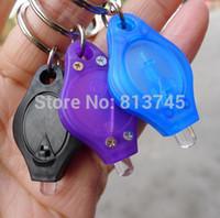 Wholesale EDC mini white light LED flashlight key chains keyrings
