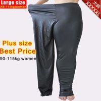 leggings pregnant - Plus size XL Abdominal elastic high waist maternity pants for pregnant women Autumn and Winter Large yards Leggings Slim plus size pants