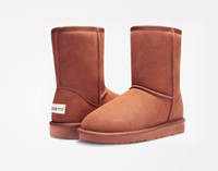 australia wholesalers - NEW Australia classic tall waterproof cowhide genuine leather snow boots warm shoes for women