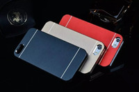 aluminium packing cases - MOTOMO Brushed Metal Aluminium Alloy Hard PC Case For iPhone S S G Luxury Cell Phone Cases Dust Proof Cover with opp packing