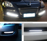 Cheap 17CM 12V LED COB Car Auto DRL Driving Daytime Running Light White ice Blue Lamp