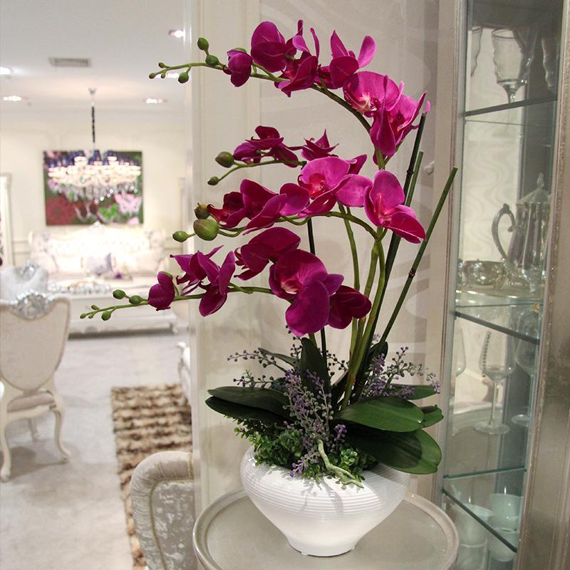 Декоративные цветы в интерьере фото